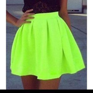 Dresses & Skirts - Neon Green Skirt